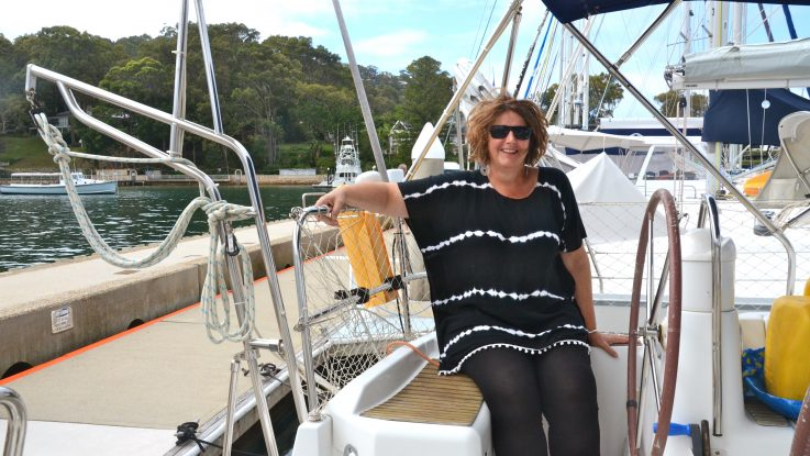 Lady Sailor Takes to the Sea