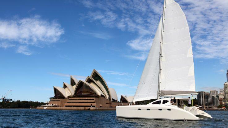 Multihull World Review of the Spirited 380 Cruising Catamaran